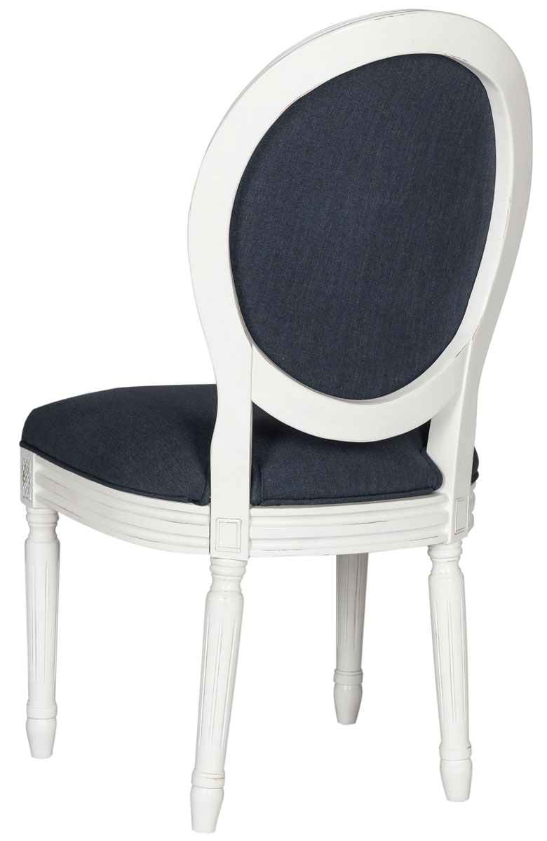 HOLLOWAY 19u0027u0027H FRENCH BRASSERIE LINEN OVAL SIDE CHAIR FOX6228C-SET2 DINING CHAIRS. Color Navy  sc 1 st  Safavieh.com & FOX6228C-SET2 Dining Chairs - Furniture by Safavieh