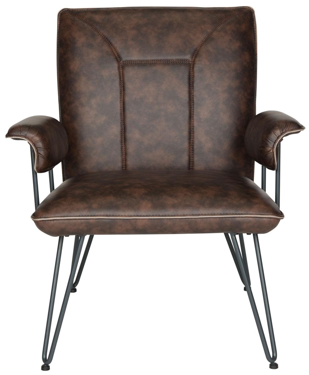 FOX1700ABrown Bicast Leather Armchair   Safavieh com. Havana Leather Armchair. Home Design Ideas
