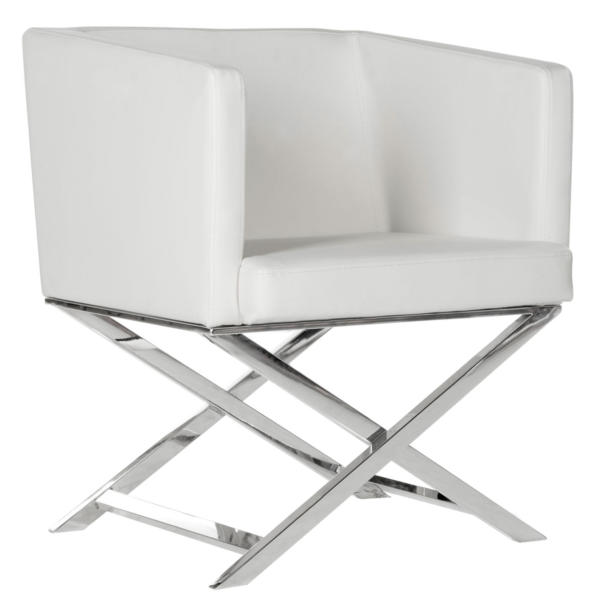 Accent Chairs Color White Chrome Save