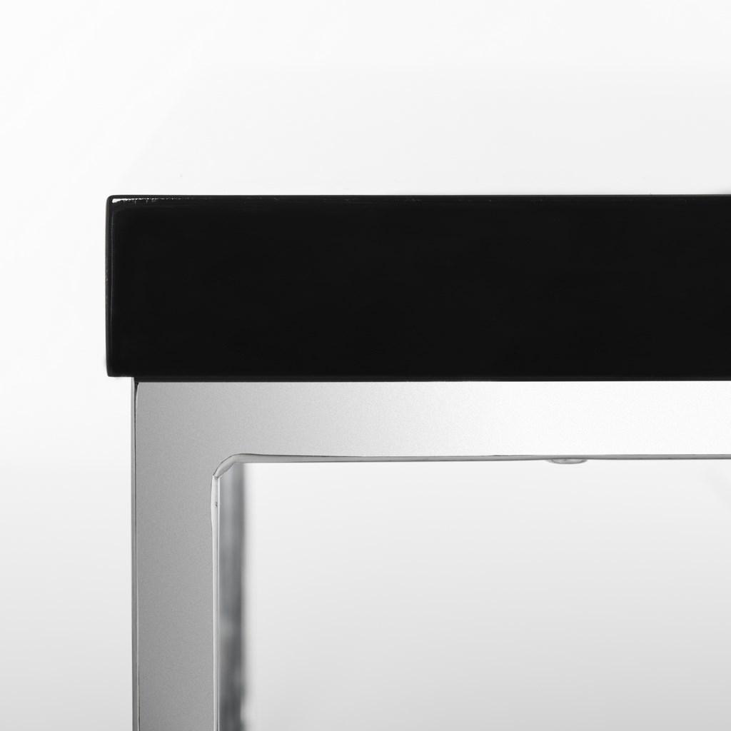 Malone Chrome High Gloss Coffee Table Fox2214b Tables