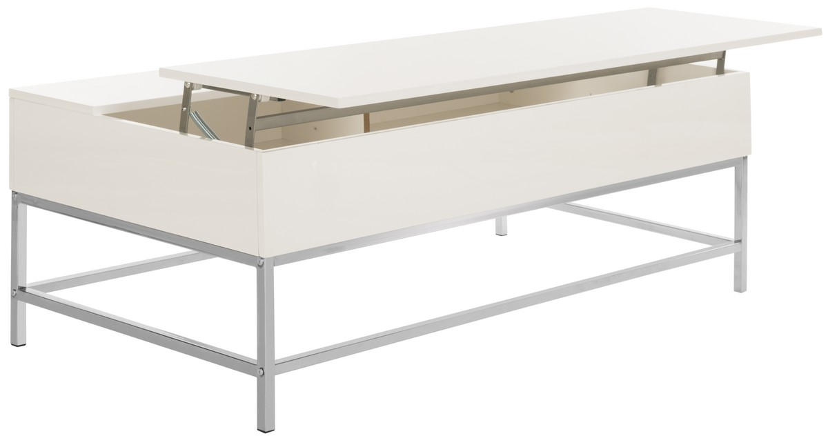White Lift Up Coffee Table.Fox2241a Coffee Tables Furniture By Safavieh