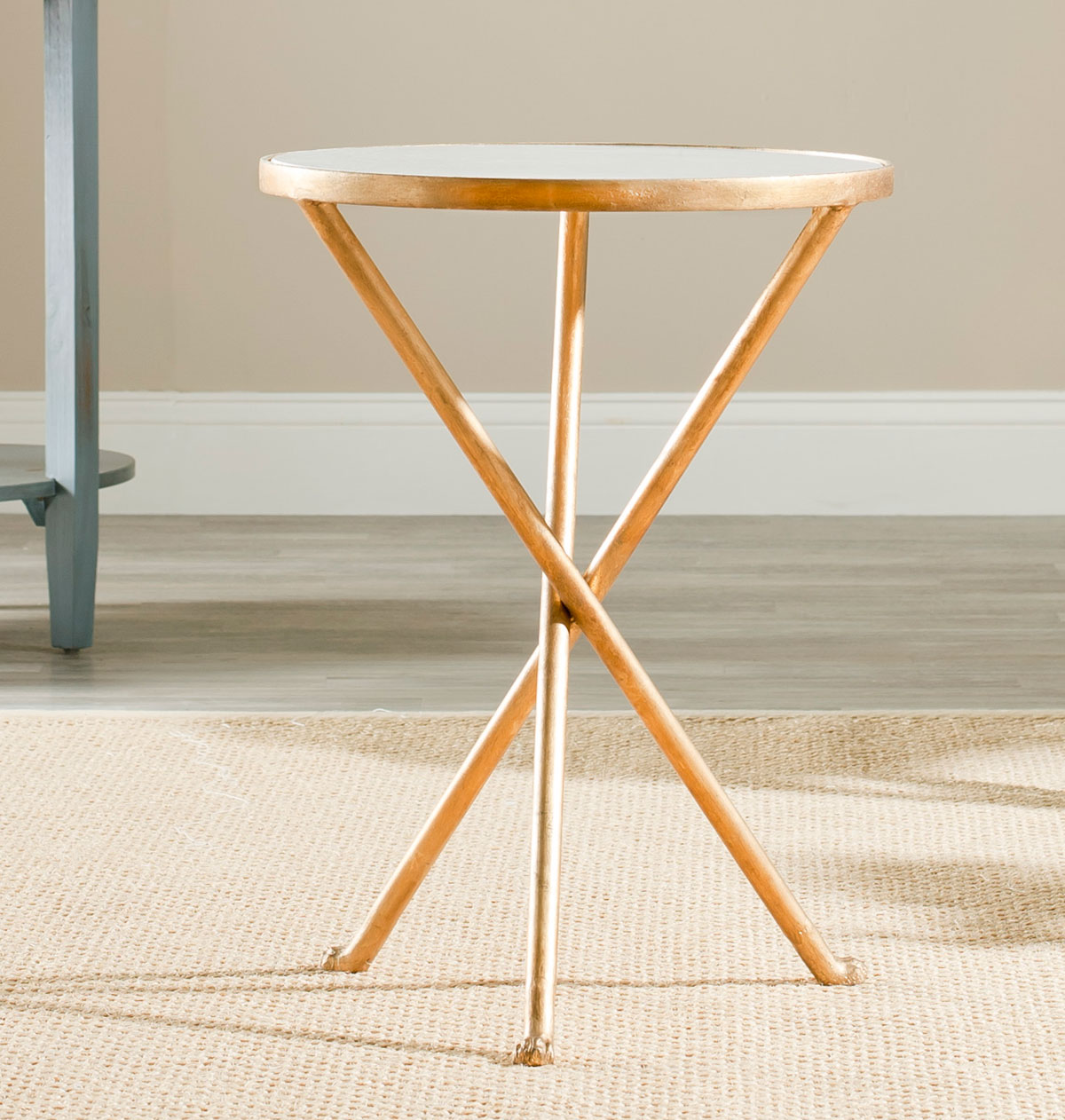 The Diminutive Marcie Accent Table Is Functional And Decorative Beside A  Chair, With Round White Marble Top Set In An Iron Tripod Base Thatu0027s  Finished With ...