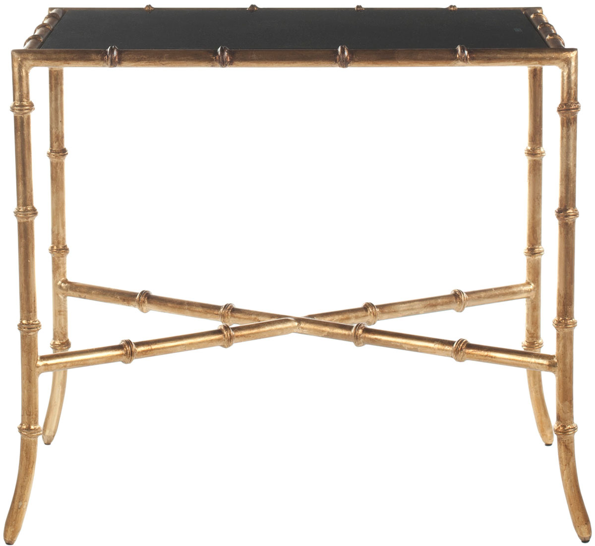 Santiago Modern Burnished Brass Drum Coffee Table: FOX2513B Accent Tables