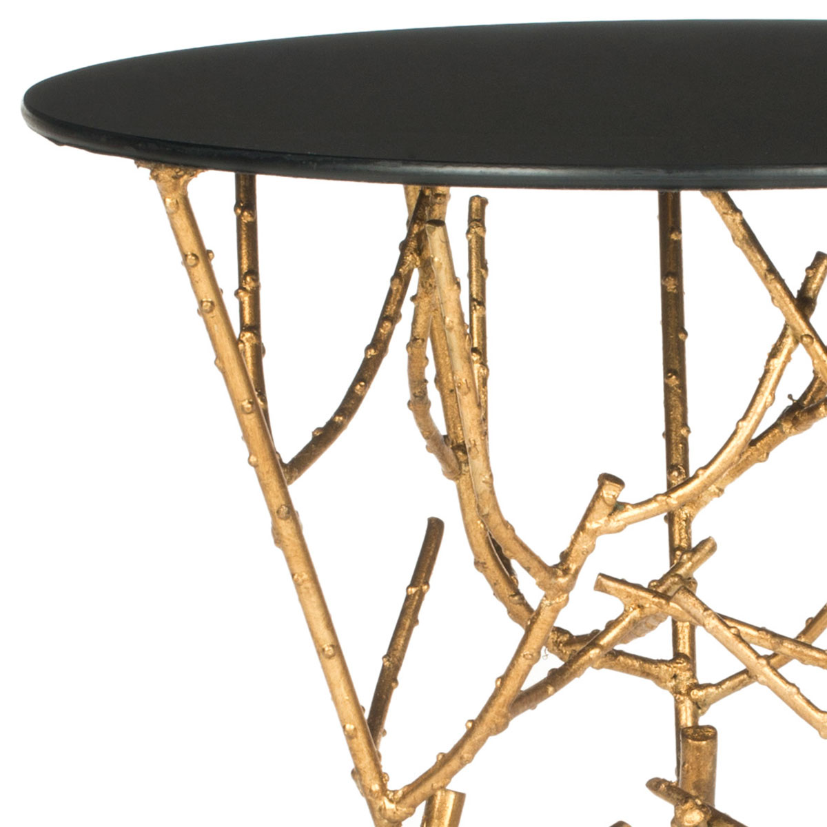 mirrored finish iron shape table tables safavieh gold crafted octagonal top end itm accent