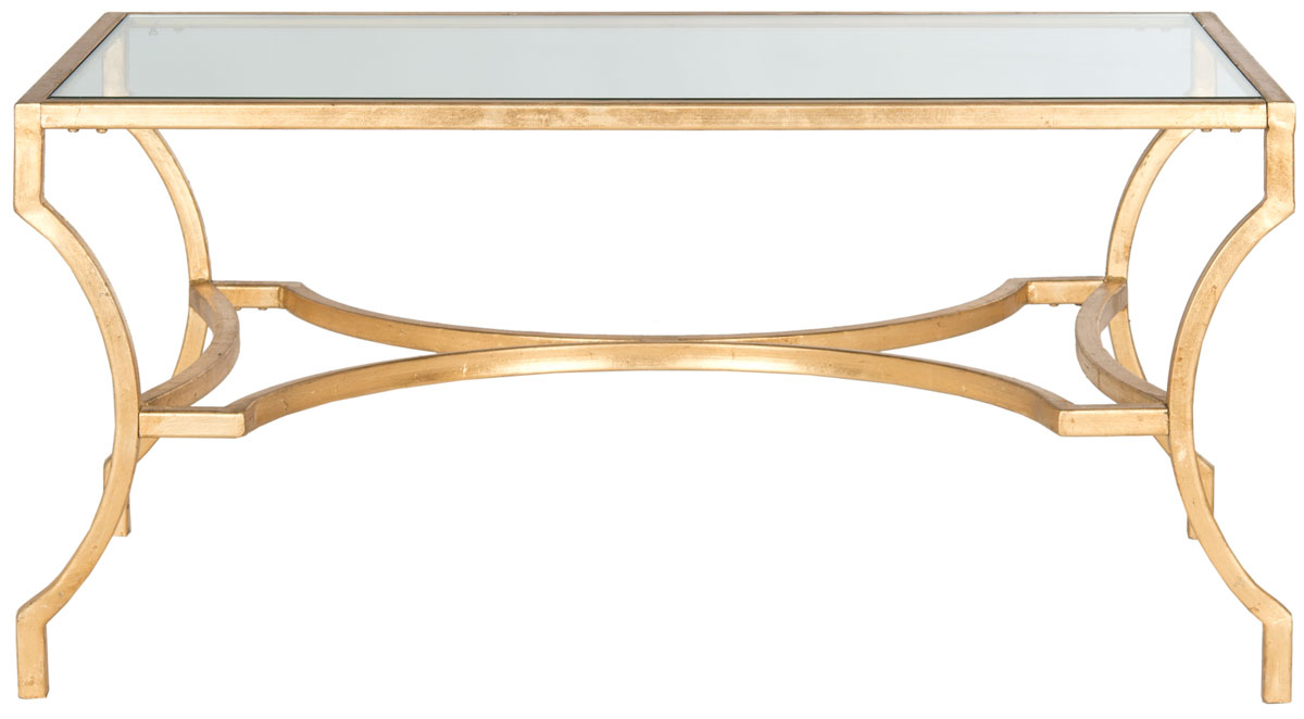 Coffee Tables. Color: Gold / Tempered Glass Top