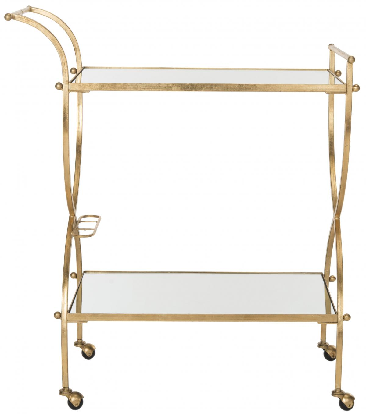 Bar Carts Color Gold Mirror Top