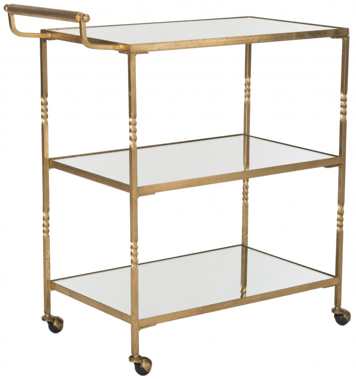 Aurelius Bar Cart Fox2557b Carts Color Gold