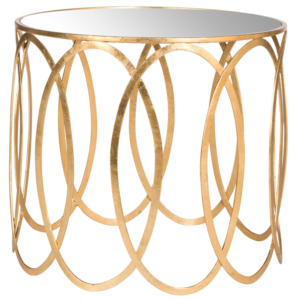 CYRAH GOLD LEAF ACCENT TABLE FOX2564A ACCENT TABLES