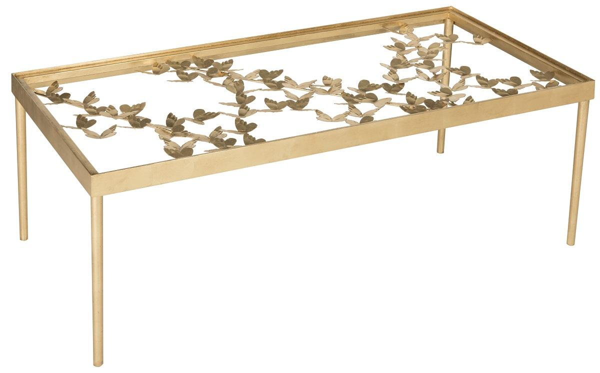 Fox2589a coffee tables furniture by safavieh rosalia butterfly coffee table fox2589a coffee tables color gold leaf geotapseo Choice Image
