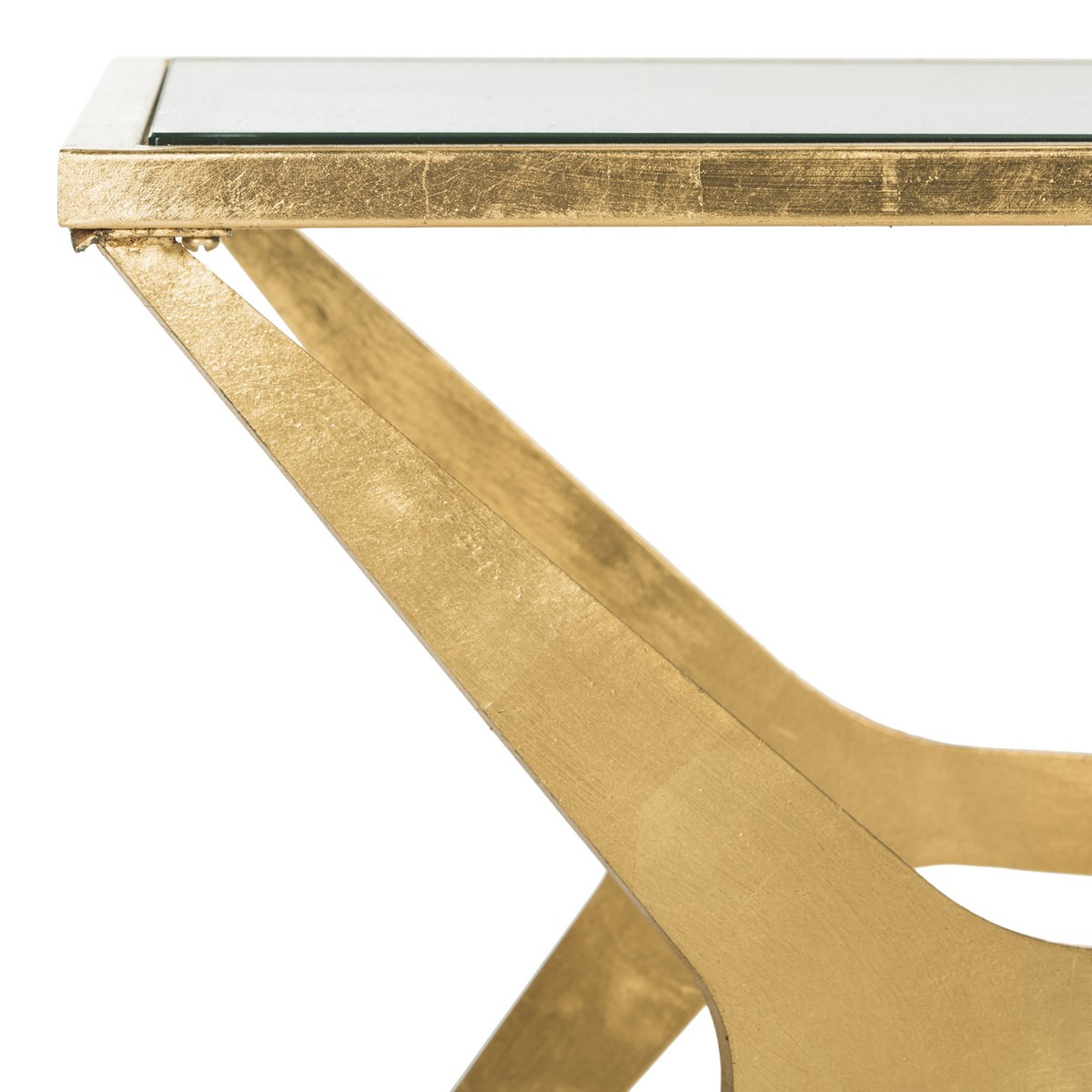 Fox2603a coffee tables furniture by safavieh edythe gold leaf coffee table fox2603a coffee tables geotapseo Choice Image