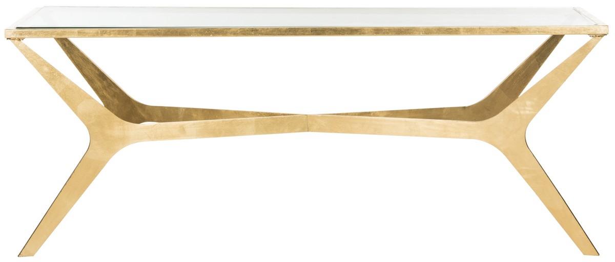 Edythe Gold Leaf Coffee Table Fox2603a Tables
