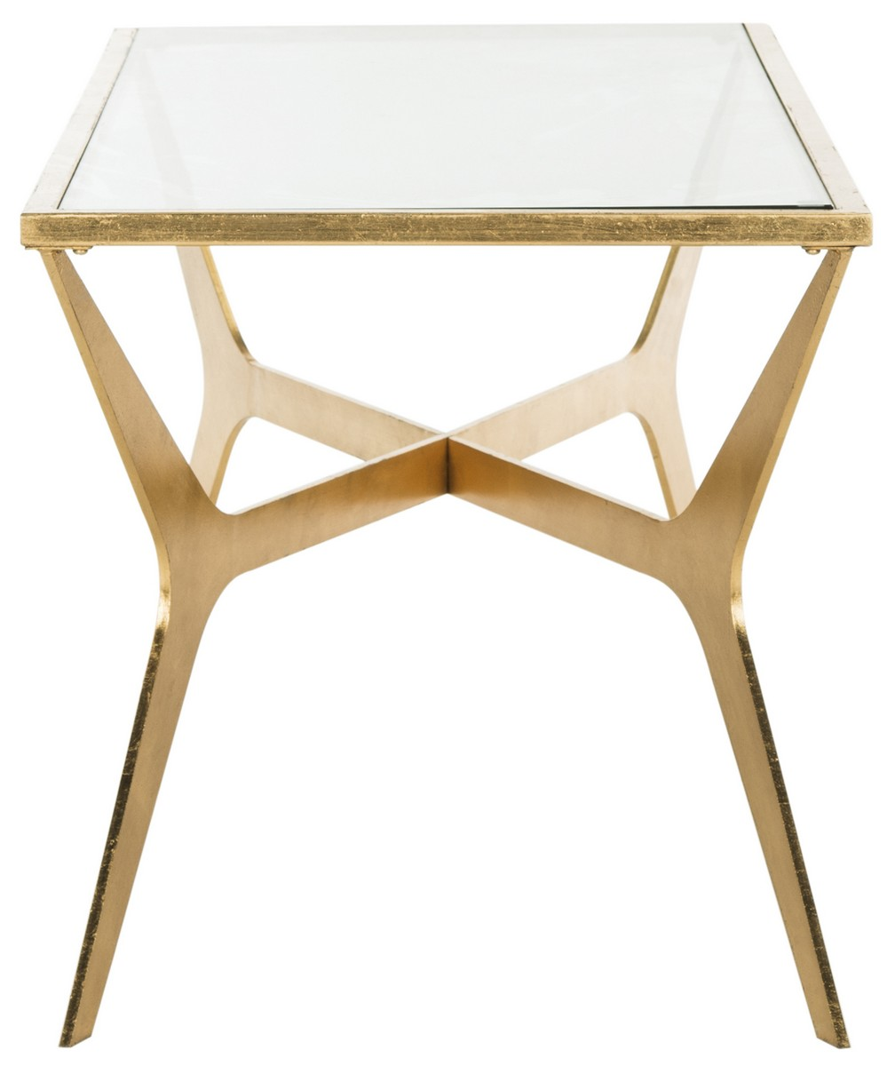 Fox2603a coffee tables furniture by safavieh this contemporary coffee table was inspired by the furnishings in latest design hotel in oslo finished in shimmering gold leaf its elegant geotapseo Choice Image