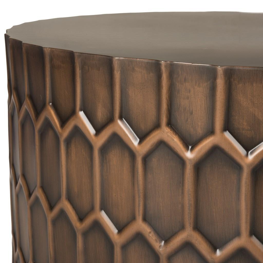 Safavieh Corey Antique Copper Coffee Table: FOX3237A Coffee Tables