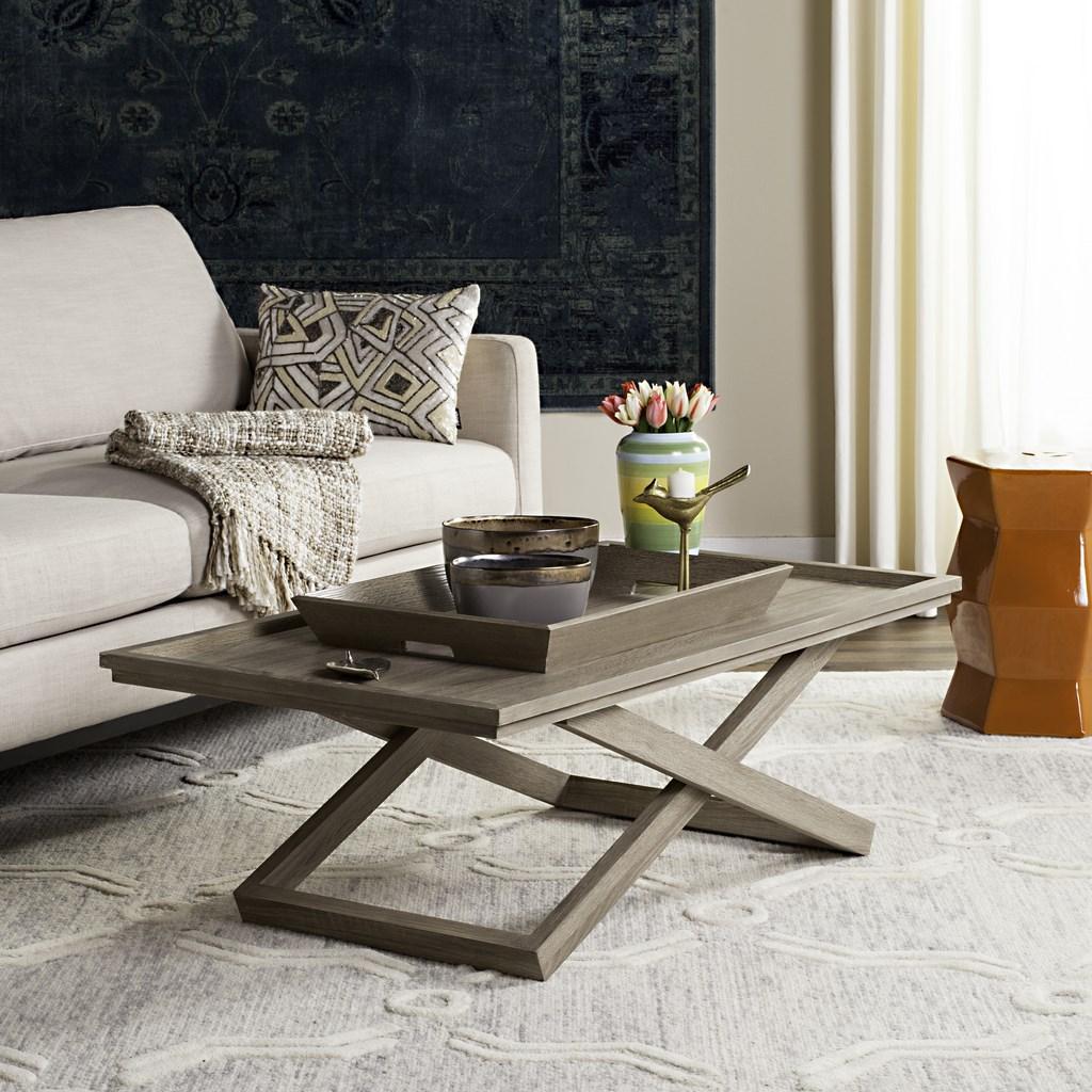 Arleana Cross Leg Coffee Table W Tray Fox4230a Tables