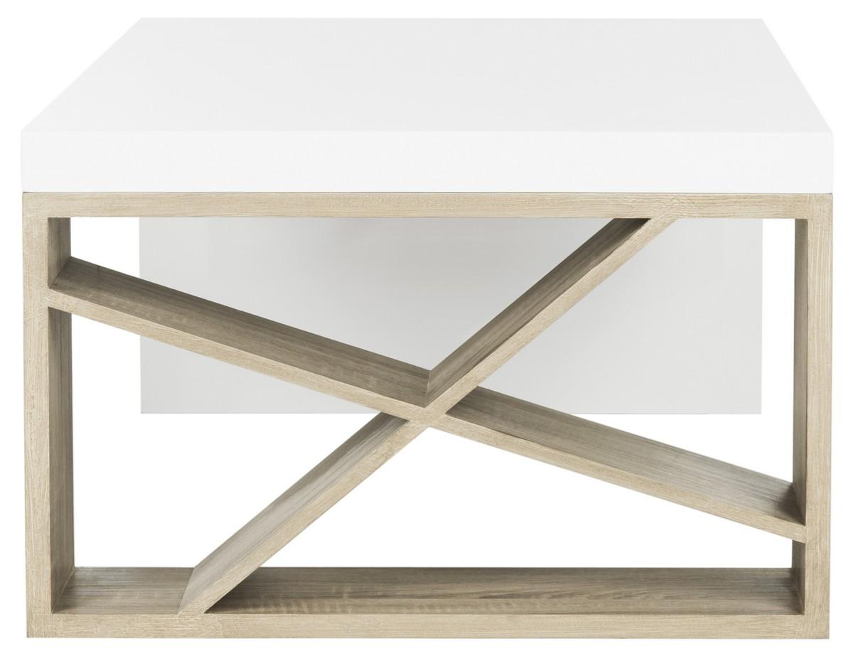 Carlton Modern Scandinavian Side Storage Lacquer Coffee Table Fox4236a Tables