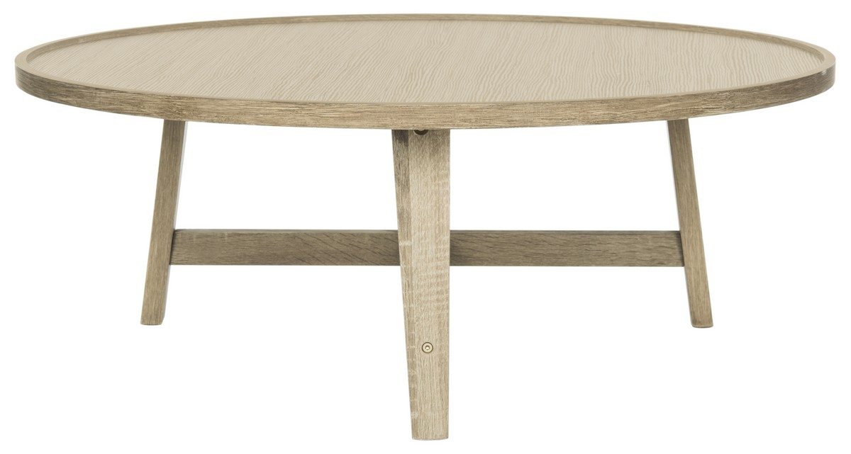 Fox4257a Coffee Tables Furniture By Safavieh Most Recent Pertaining To Home Collection Malone White And Chrome Table