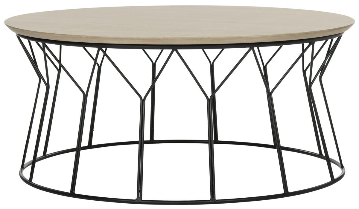Deion Retro Mid Century Wood Coffee Table Fox4259a Tables