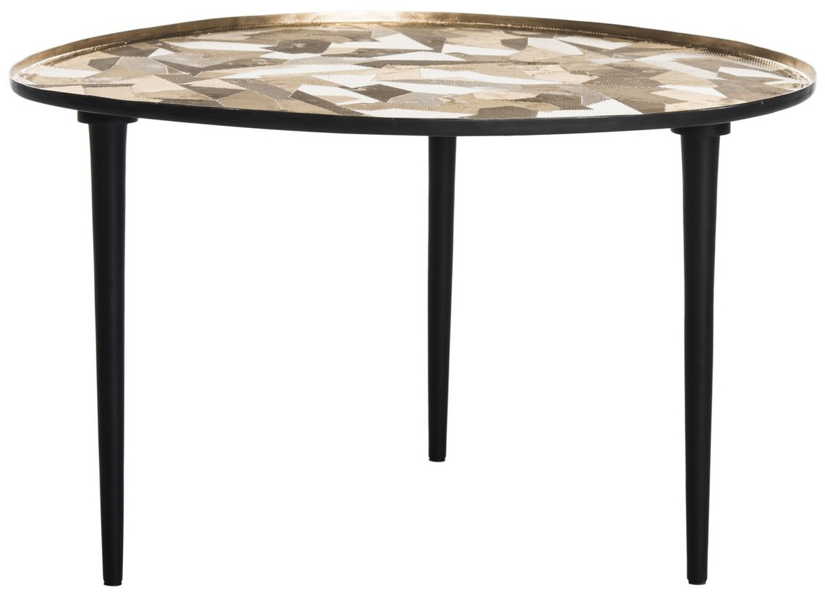HERA OVAL SIDE TABLE Item: FOX5521A Color: Black