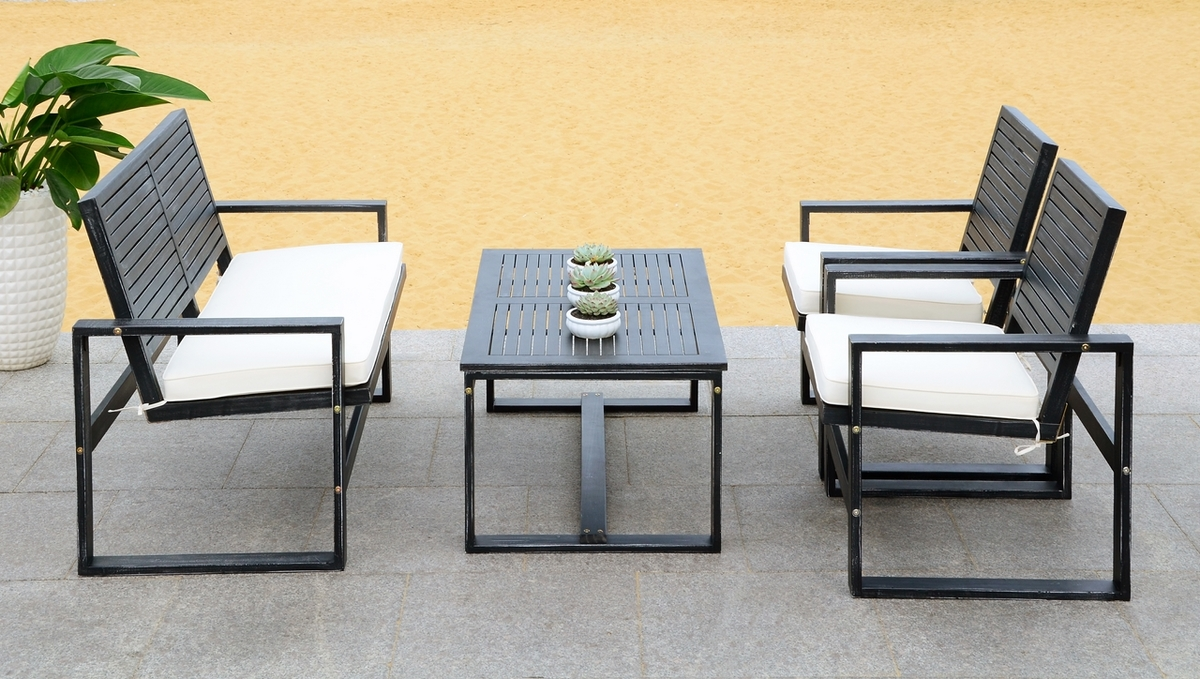 FOX6007E Patio Sets - 4 Piece - Furniture by Safavieh