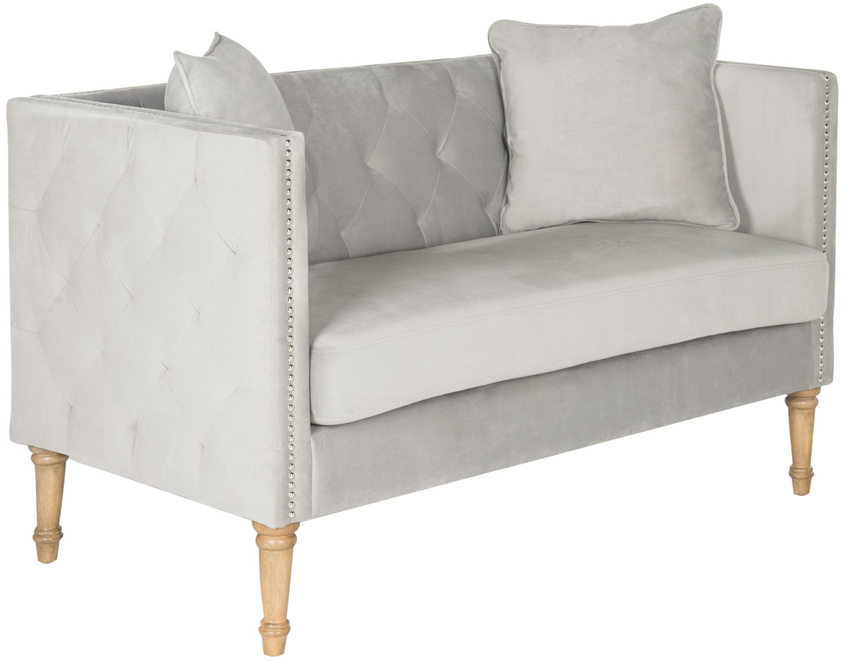 a loveseat to love at first sight the sarah tufted settee is a update of classic and tuxedo sofa styles