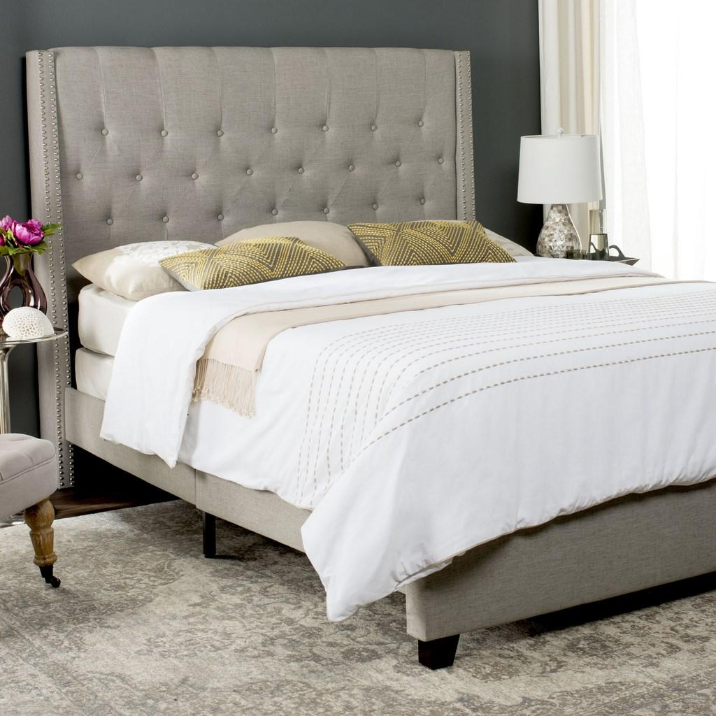 Safavieh Light Grey Bed - Winslet - FOX6212D