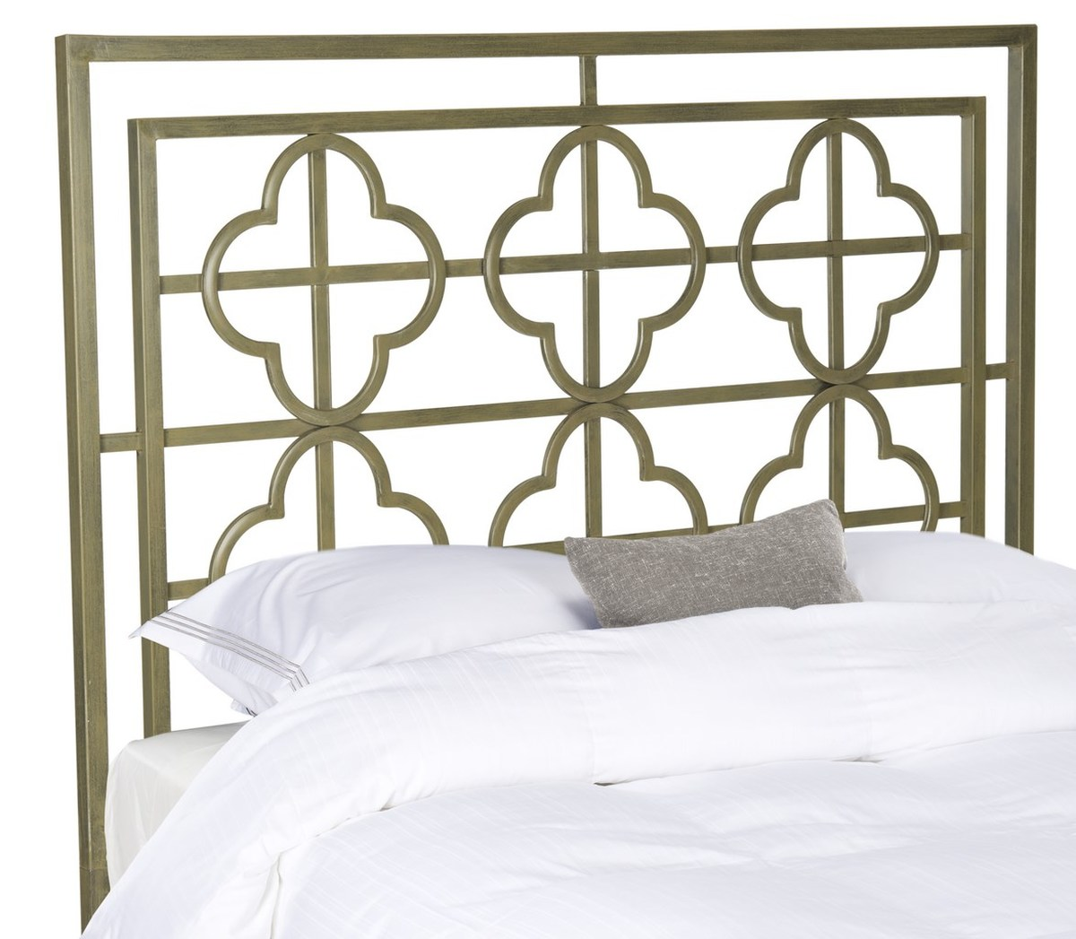 Lucinda French Silver Metal Headboard