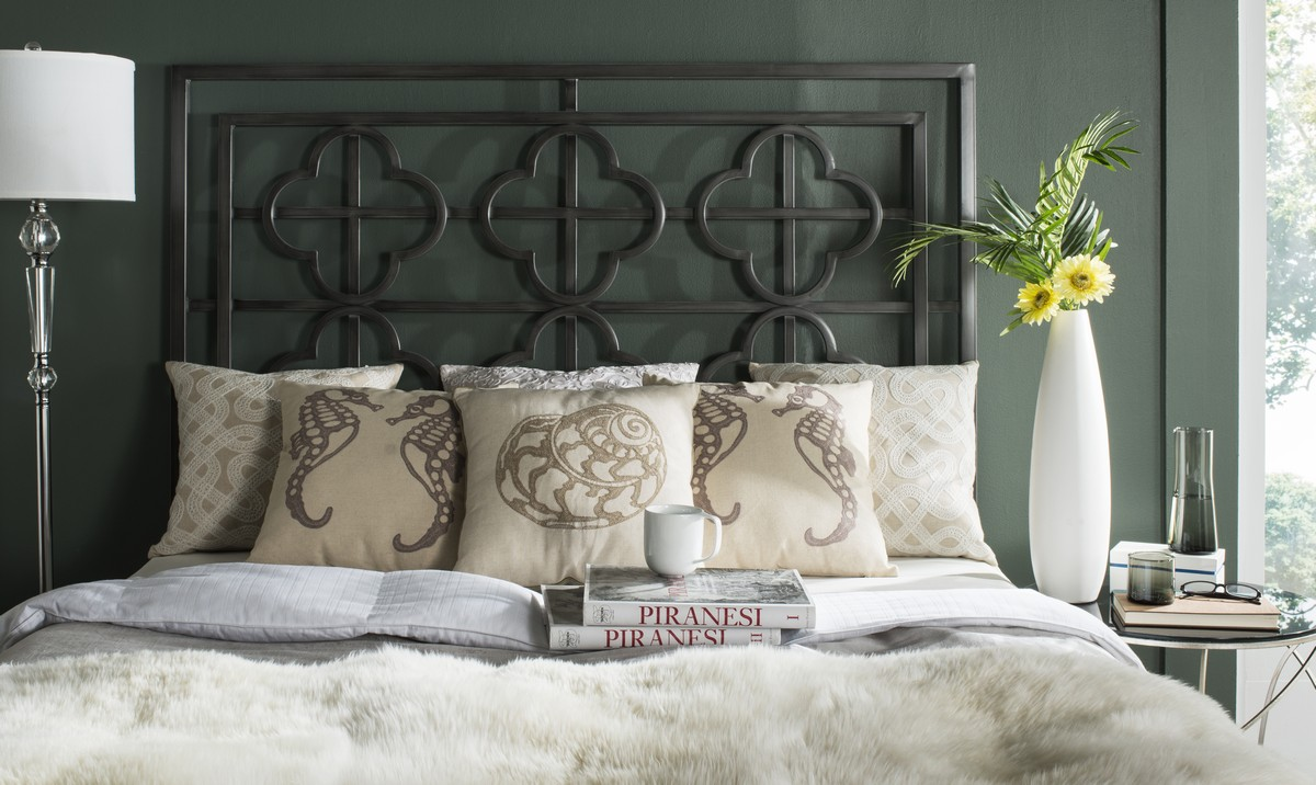 Lucinda Antique Iron Metal Headboard HEADBOARDS