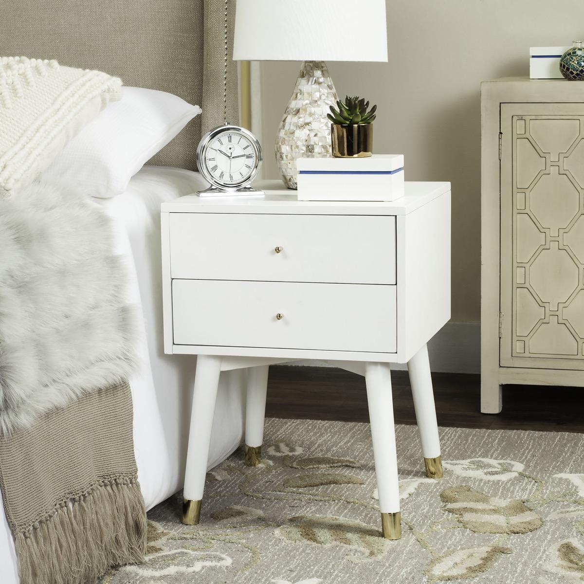 Log Bed Bedroom Ideas Bedroom Carpet Uk Vintage Bedroom Art White Bedroom Chairs: FOX6234B Accent Tables, Nightstands