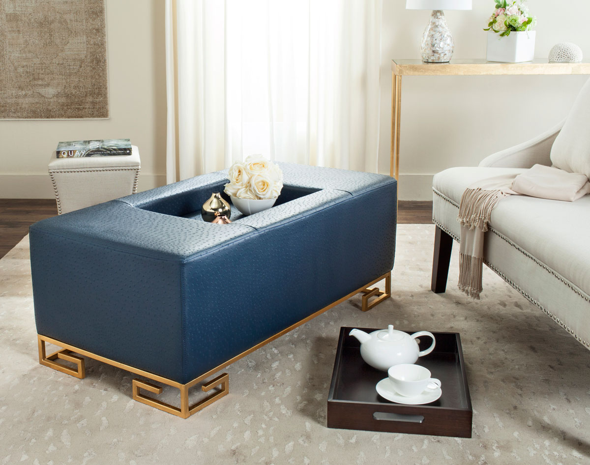 FOX6243B Coffee Tables Ottomans Furniture by Safavieh