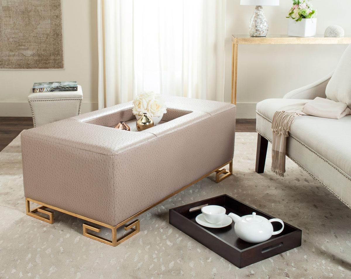 FOX6243C Coffee Tables Ottomans Furniture by Safavieh