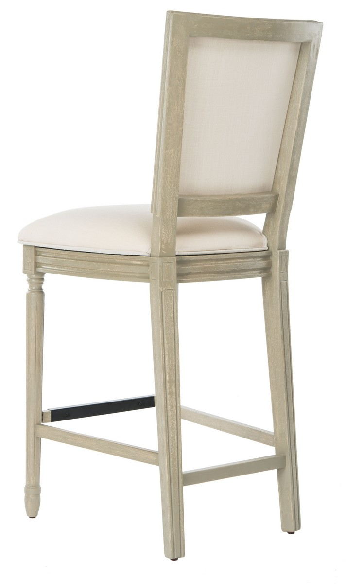 ... this rectangle bar stool. Designed to bring French charm to the table its chic light beige upholstery is paired with finely carved rustic grey wood.  sc 1 st  Safavieh.com & FOX6246D-SET2 Bar Stools - Furniture by Safavieh islam-shia.org