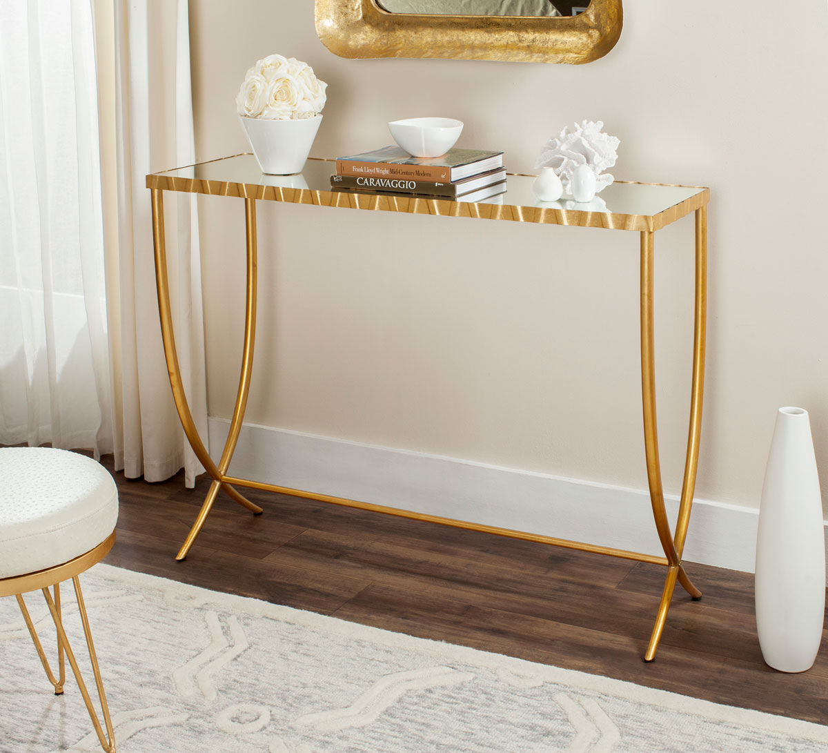 Fox6256a consoles furniture by safavieh princess console table fox6256a consoles geotapseo Gallery