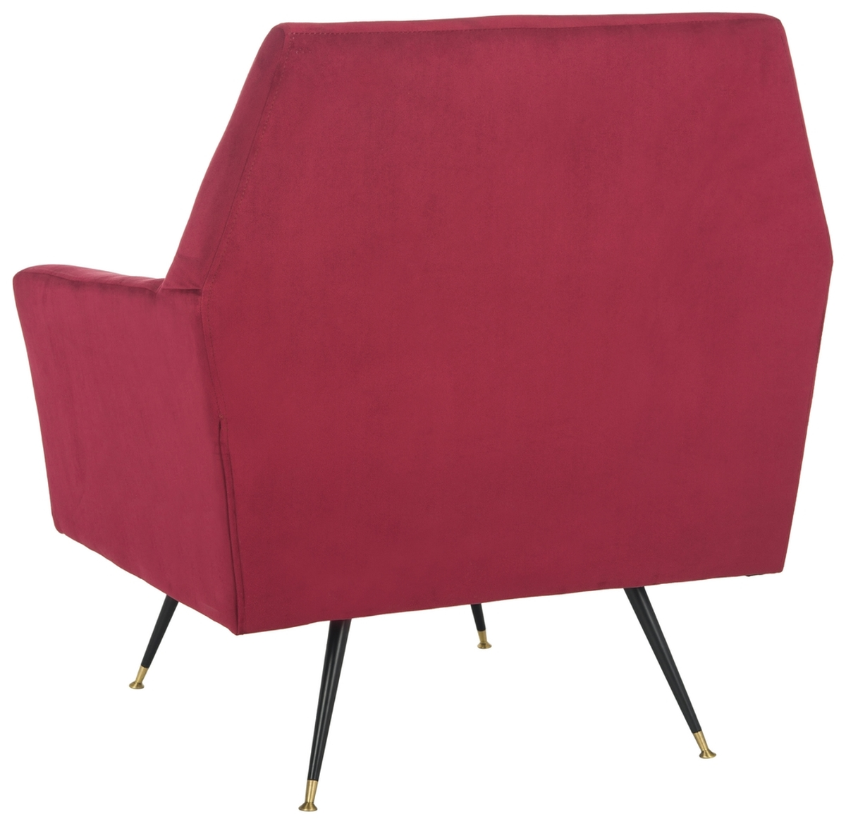 Nynette Velvet Retro Mid Century Accent Chair Item Fox6270a Color Maroon