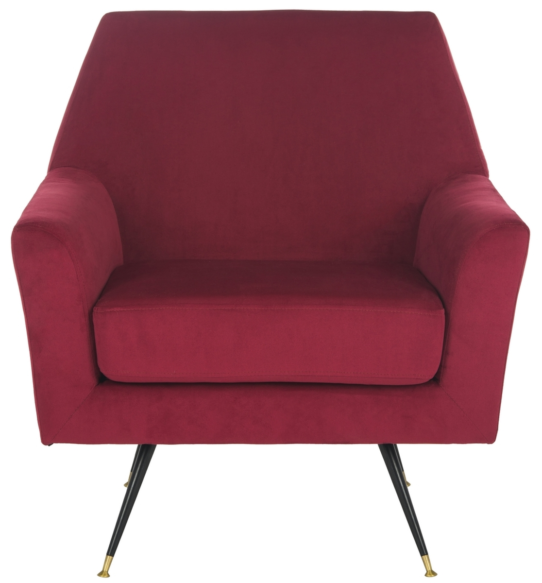 NYNETTE VELVET RETRO MID CENTURY ACCENT CHAIR FOX6270A ACCENT CHAIRS.  Color: Maroon