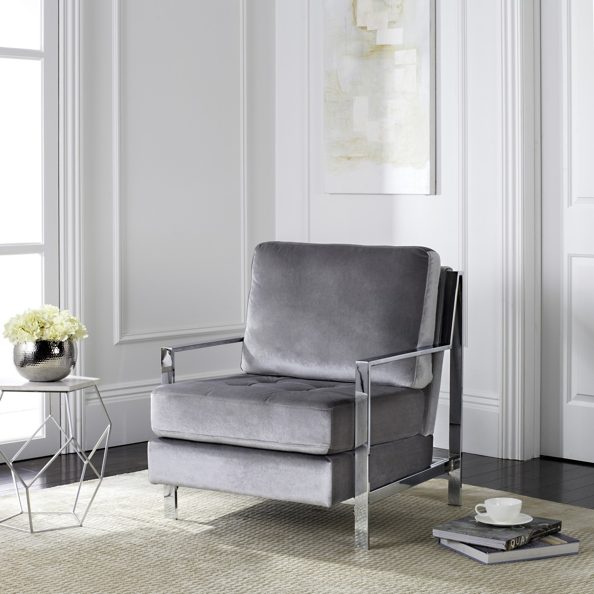 What Color Accent Chair With Grey Sofa: FOX6279C Accent Chairs