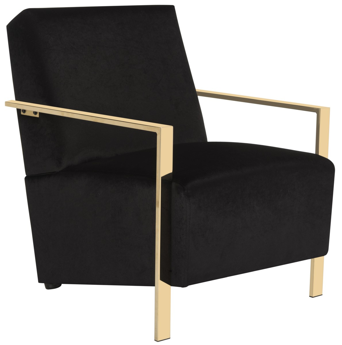 sleek and refined this sumptuous modern accent chair was inspired by the legendary home of a top los angeles interior designer crafted with luxe black