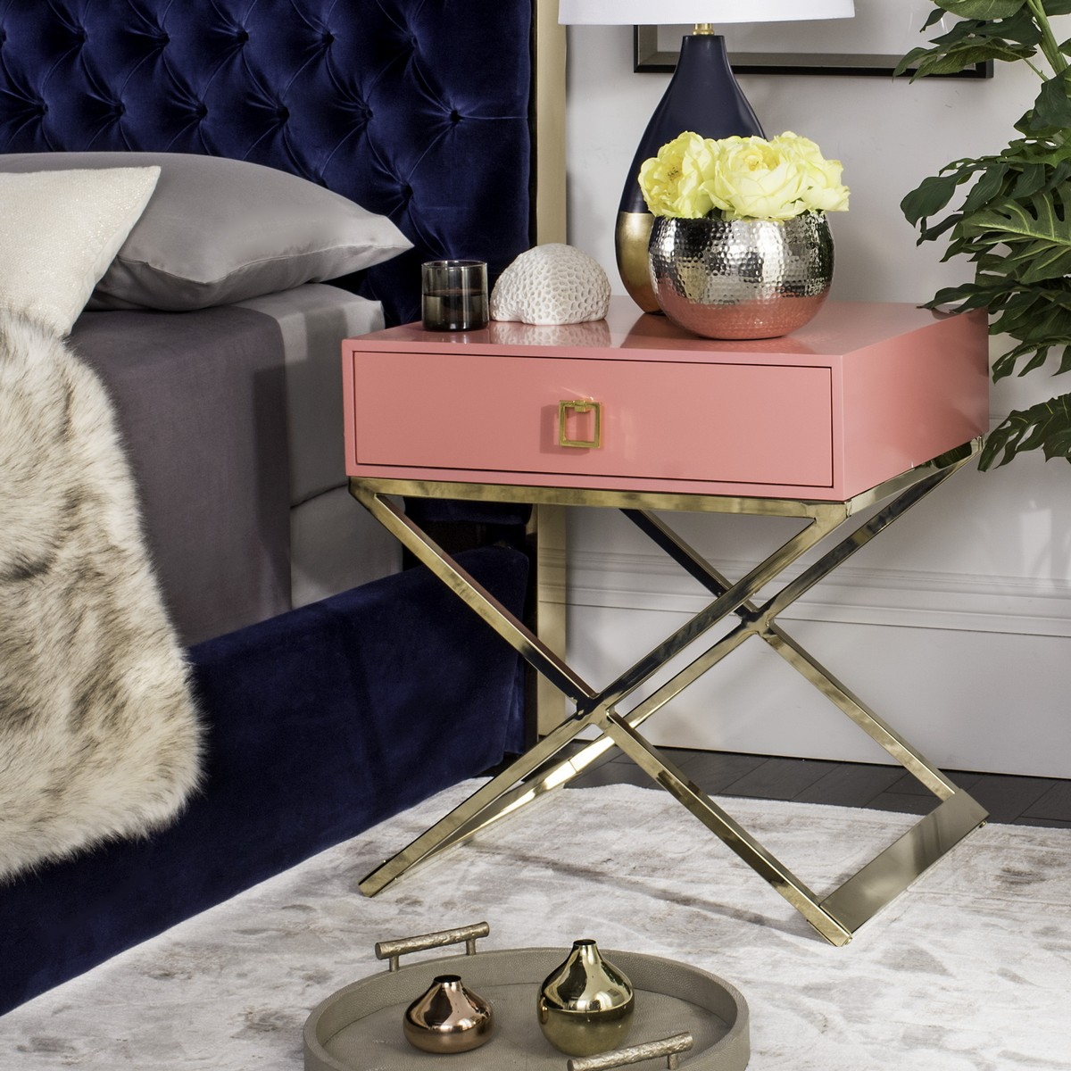 Attirant ACCENT TABLES. Color: Pink. Save