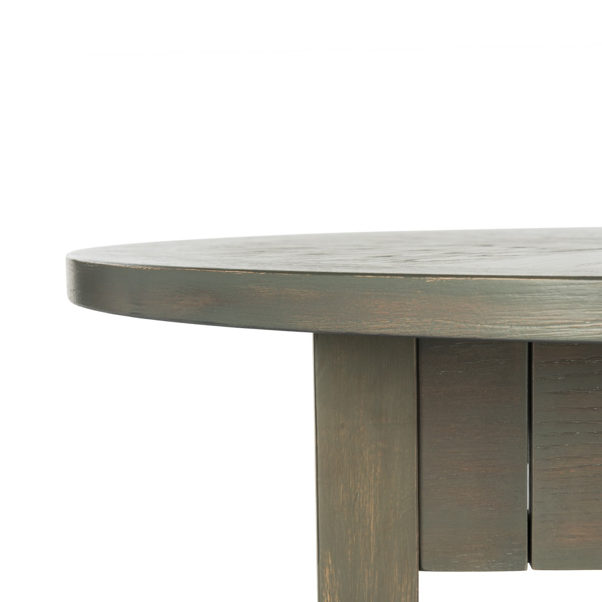 Fox6307a coffee tables furniture by safavieh bring warm contemporary style to any living room with this welcoming round coffee table finely crafted with wood in a soothing ash grey finish geotapseo Images