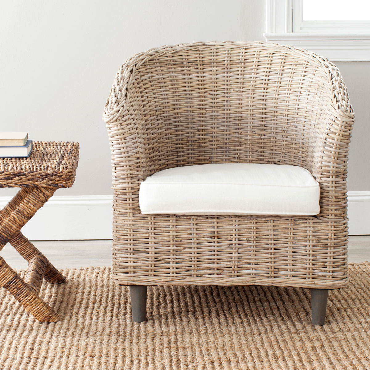 Surround Yourself With The Comfort And Transitional Style Of The Woven  Rattan Omni Barrel Chair. Crafted With Mango Wood And Rattan In A Natural  Finish With ...
