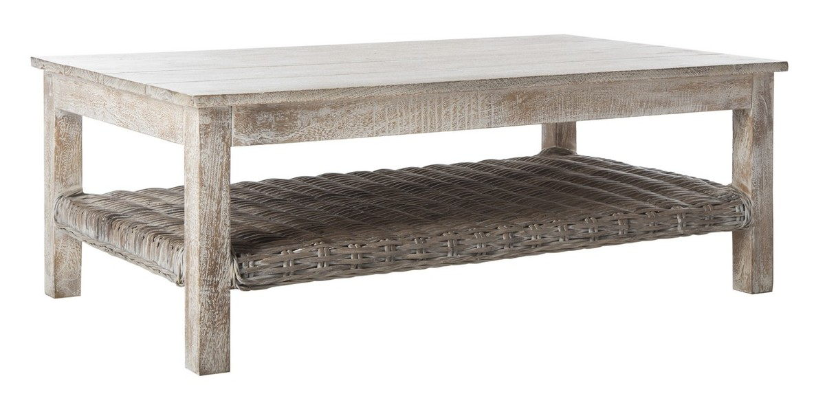 Fox6535a coffee tables furniture by safavieh Whitewash coffee table