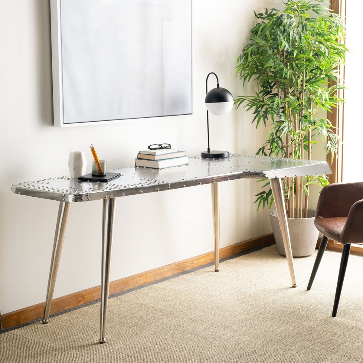 Fox7201a desks furniture by safavieh aviator writing table fox7201a desks geotapseo Choice Image
