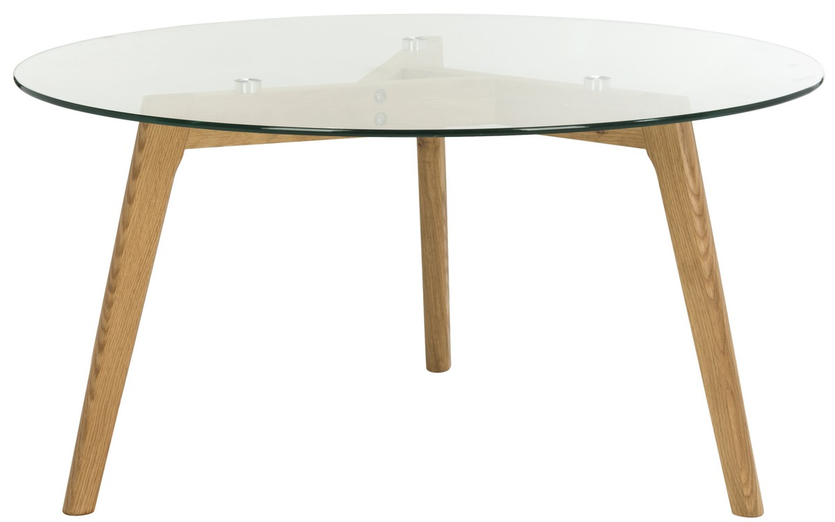 ... European Designers, This Contemporary Glass Coffee Table Is A Classic.  Its Polished Glass Top And Angular Legs Pair Soft Curves And Solid Geometry.