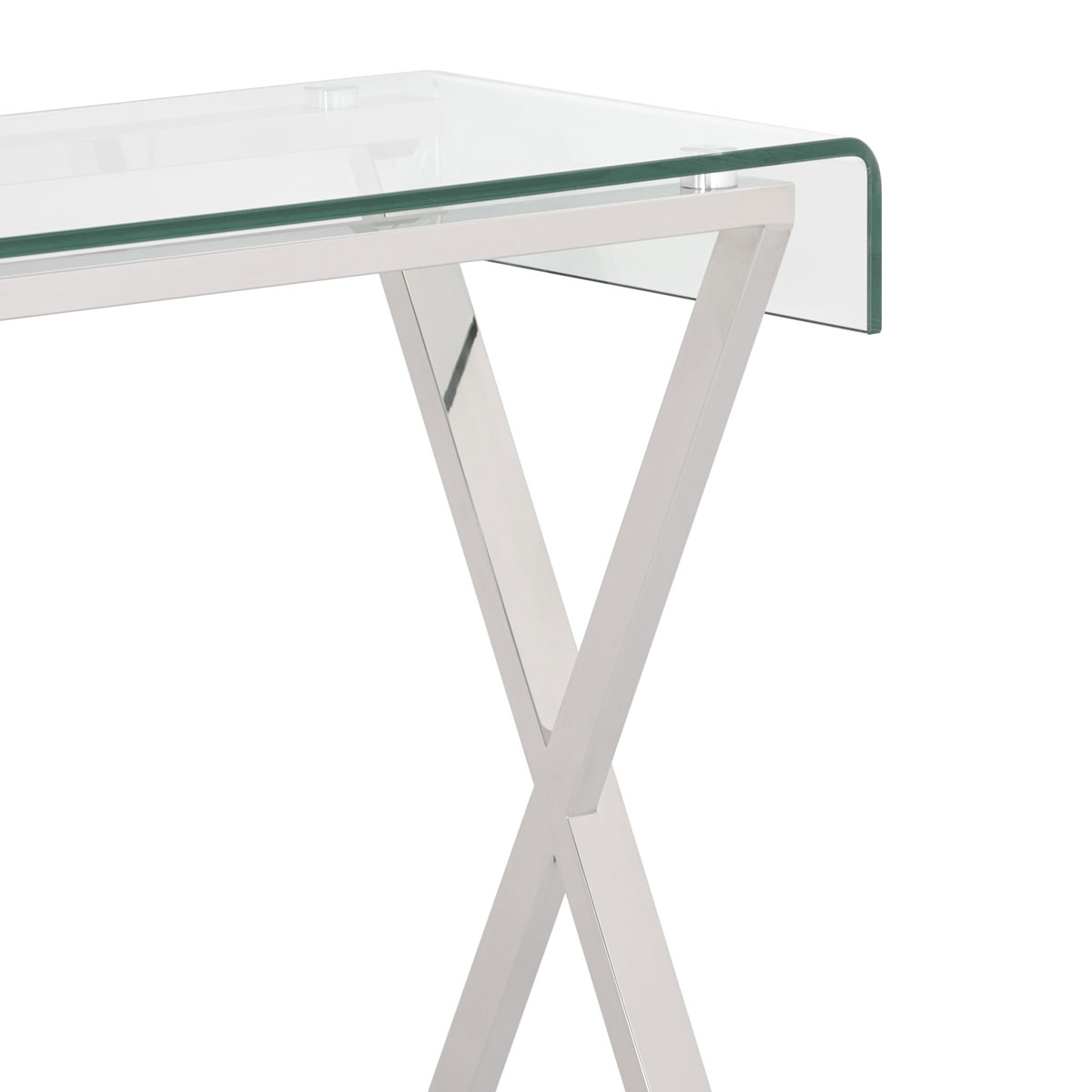 Safavieh Couture Glass Top Metal Console Table Safavieh