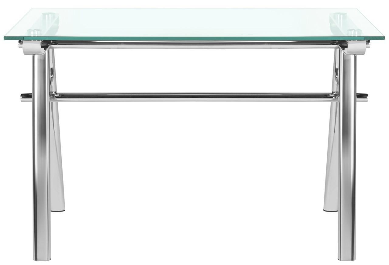 Elza Glass Top Metal Desk Fox9078a