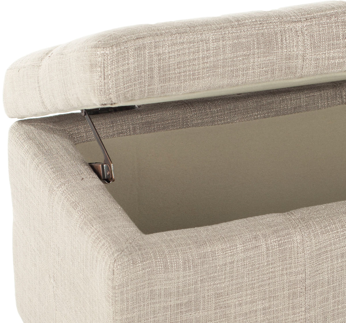 The Elegantly Appointed Large Madison Storage Ottoman Is An Interior  Indulgence, Offering Both Seating And Storage. Crafted With Stone Linen  Upholstery And ...