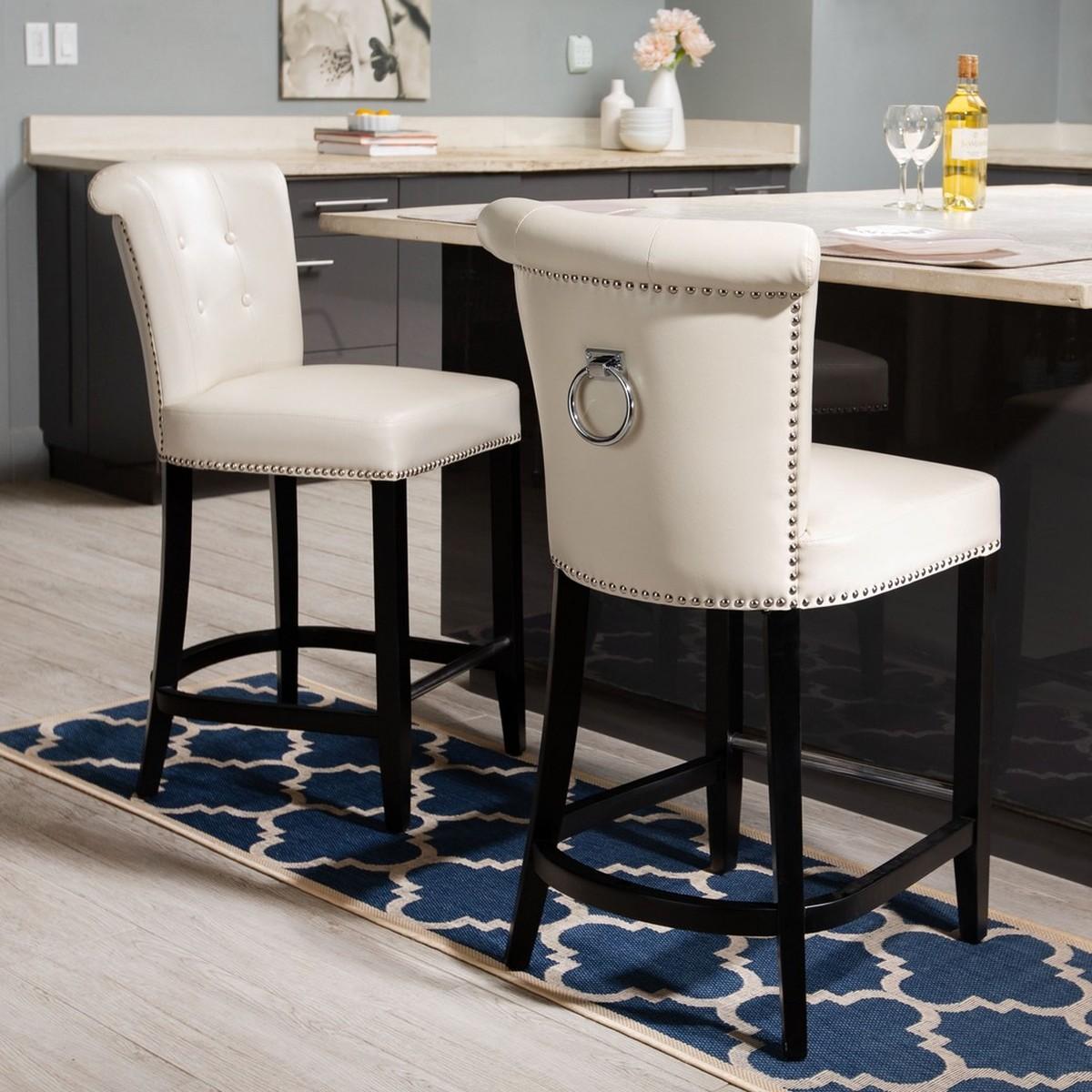 Phenomenal Hud8241D Counter Stools Furniture By Safavieh Creativecarmelina Interior Chair Design Creativecarmelinacom