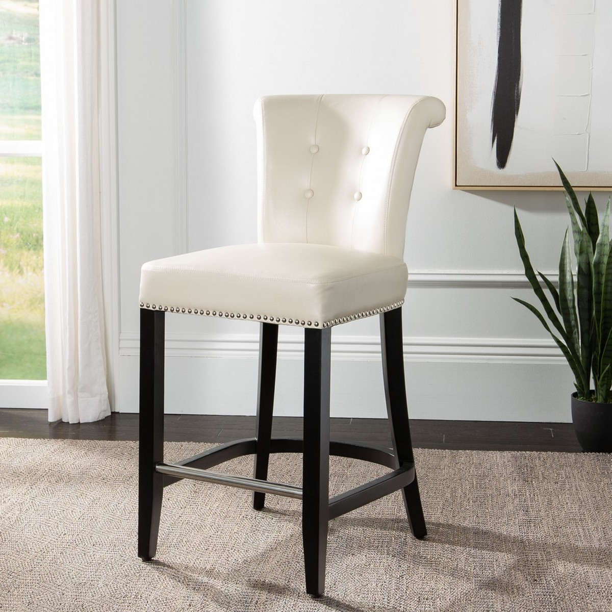 Peachy Hud8241D Counter Stools Furniture By Safavieh Creativecarmelina Interior Chair Design Creativecarmelinacom