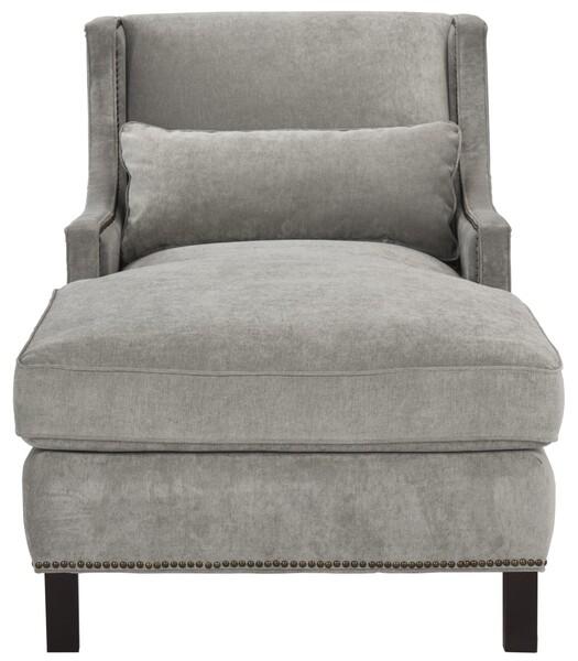 Contemporary Nailhead Chaise Lounge Safavieh Com