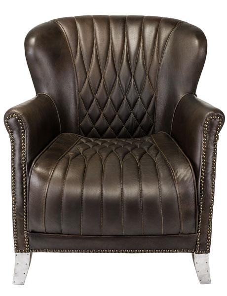 Classic Quilted Leather Aluminium Armchair Safavieh Com