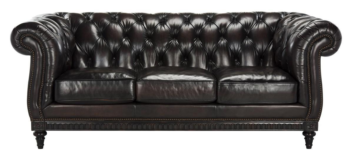 27590dbf3d53 Classic Tufted Leather Nailhead Sofa - Safavieh.com